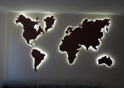 Mapa świata z podświetleniem